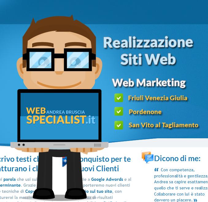 web specialist creazione siti web
